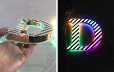 Face & Reverse Lit Acrylic mini Channel Letter signs