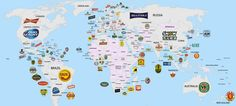 The world's most popular beers in one neat map