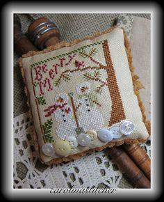 Be Merry~ Little Hose Needleworks by Carolina stitcher, via Flickr