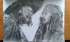 """24 Likes, 2 Comments - Drawing with Pencil (@drawingwithpencilart) on Instagram: """"Pirates of the Caribbean #piratesofthecaribbean #jacksparrow #sparrow #barbossa #captainbarbossa…"""""""