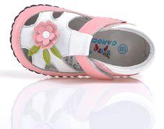 """Kids Got Sole - Caroch """"Abigail"""" Pink Leather Soft Sole Shoes, $31.95 (http://www.kidsgotsole.com.au/caroch-abigail-pink-leather-soft-sole-shoes/)"""