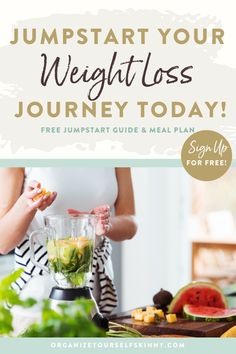 """Do you wake up every morning intending to drink a smoothie and go for a jog only to put it off until """"tomorrow"""" because you don't have time, energy, or whatever the excuse of the day is? Stop procrastinating and start making lifestyle changes in the next 2 days with my FREE guide 6-Steps to Jumpstart Your Weight Loss Journey This Weekend & 7-day Make-ahead Meal Plan. Organize Yourself Skinny Healthy Meal Prep Recipes   How To Lose Weight Healthy Freezer Meals, Healthy Eating Habits, Healthy Lifestyle Tips, Healthy Foods To Eat, Cooking For Beginners, Cooking Tips, 1500 Calorie Meal Plan, Meal Plans To Lose Weight, Skinny Recipes"""