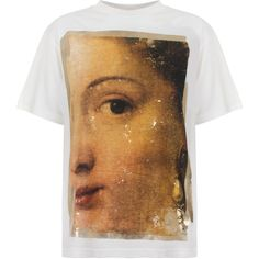 Golden Goose Deluxe Brand Golden Painting T-Shirt (€140) ❤ liked on Polyvore featuring tops, t-shirts, crew neck tee, metallic t shirt, cotton jersey, vintage graphic t shirts and vintage tees