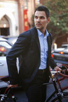O fato ideal para quem se desloca de bicicleta para o trabalho.