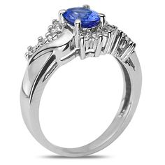 Ebay NissoniJewelry presents - 1/4CT Diamond Fashion Ring with Tanzanite 14k White Gold    Model Number:FR8006E-W477TA    http://www.ebay.com/itm/1-4CT-Diamond-Fashion-Ring-with-Tanzanite-14k-White-Gold/221630447743