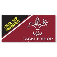 TBN13V4x8 - 4x8 Vinyl Banner-13oz #banner Promotional Banners, Tackle Shop, Vinyl Banners
