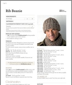 Ravelry perky little hat pattern by sharon lentsch – Artofit Beanie Knitting Patterns Free, Knit Beanie Pattern, Easy Knitting, Knit Patterns, Knitting Tutorials, Knitting Projects, Mens Knit Beanie, Knit Hat For Men, Double Pointed Knitting Needles