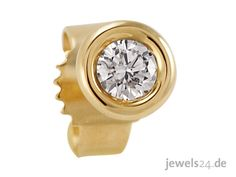 Ein eleganter Single Ohrstecker, besetzt mit einem weißen Diamant im klassischen Brillant Schliff. Kann von Männern und Frauen getragen werden. Weitere Schmuckstücke aus Idar-Oberstein finden sie auf unserer Seite www.jewels24.de #diamant #schmuck
