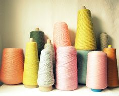 Yards of It...    Lovely collection of spools....the colors are delicious...they remind me of sherbert in summer!