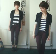 Topshop Blazer, Topshop Jeans, Red Or Dead Shoes, Blouse - The Lives of Cleopatra - Ashleigh F.