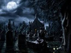 Image result for cemetery at night