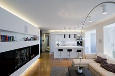 minimalist kitchen with living room - Google Search