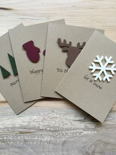 Rustic Holiday Card Set, Set of 8 Christmas Cards, Assorted .- Rustic Holiday Card Set, Set of 8 Christmas Cards, Assorted Holiday Christmas Cards Rustic Christmas Card Set of 8 Christmas Cards Different Homemade Christmas Cards, Christmas Tree Cards, Christmas Gift Tags, Homemade Cards, Christmas Holidays, Christmas Crafts, Christmas Decorations, Happy Holidays, Cricut Christmas Cards