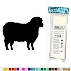 Amazon.com: Sheep Lamb - Vinyl Sticker Decal Wall Art Decor - Black: Office Products