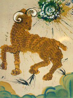 Salvador Dalí 1904-1989 | Surrealist painter | Twelve Signs of the Zodiac, 1967 - Aries