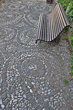 mosaico de piedras