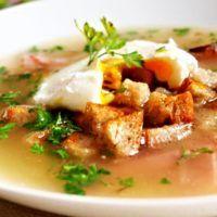 Recept : Silvestrovská česnečka | ReceptyOnLine.cz - kuchařka, recepty a inspirace Thai Red Curry, Garlic, Soup, Ethnic Recipes, Soups