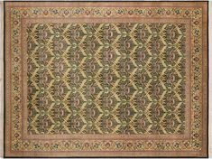 William Morris Pak-Persian Sandi Drk.green/Drk. Red Hand-Knotted Rug (10'1 x 14'0)