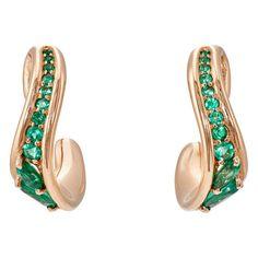Fernando Jorge Women's Stream Hoop Earrings (£3,110) ❤ liked on Polyvore featuring jewelry, earrings, gold, post back earrings, post earrings, polish jewelry, fernando jorge jewelry and round earrings