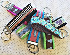 Key Chains - these are easier to make than the ones I did and the hardware looks much much cooler.