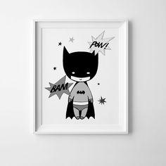 Batman print kids room print nursery wall art von MiniLearners