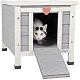 "Petsfit Outdoor/Indoor Cat House,Ideal Cat Condo,Weatherproof Cat Shelter 16"" Wx17 Hx20 D Feral Cat Shelter, Feral Cat House, Outdoor Cat Shelter, Outdoor Cat Enclosure, Outdoor Shelters, Outdoor Cats, Cat Shelters, Feral Cats, Outdoor Rabbit Hutch"