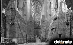 The inside of the Cathedral of Amiens during World War II. Rare Photos of History – Page 43 – Daily Bananas Rare Historical Photos, Rare Photos, Vintage Photographs, Vintage Photos, History Page, History Books, History Class, Amiens, Vintage Horror