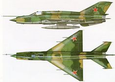 """enrique262: """"The Mikoyan-Gurevich MiG-21 (Russian: Микоян и Гуревич МиГ-21; NATO reporting name: Fishbed) is a supersonic jet fighter aircraft, designed by the Mikoyan-Gurevich Design Bureau in the..."""