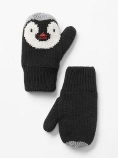 Penguin mittens - very cute! Not a pattern just inspiration