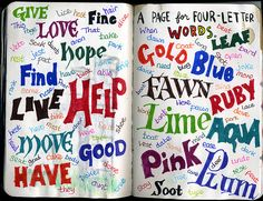 Wreck This Journal - A Page For Four Letter Words | par Eunice at Artimess