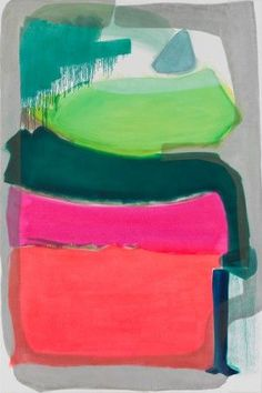 Monique van Genderen  Untitled - 2011  Oil and pigment on canvas  183 x 122 cm / 72 x 48 in. #Colorful #abstract #art