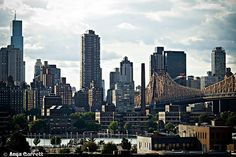 View of #Manhattan and the 59th Street Bridge from Long Island City, #NYC.