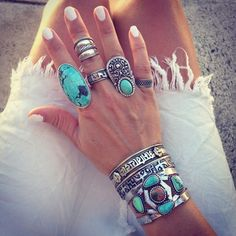 Harper Stone Mix Cuff styled by gypsylovinlight #freepeople #fpme