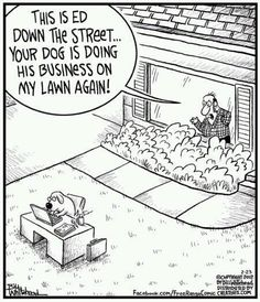 Don't let your dog do business on other people's lawn.