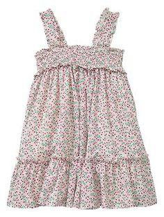 Smocked ruffle dress   Gap