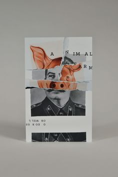 Animal farm  George Orwell  Book cover design by Katie Troy