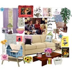 """""""Gilmore Girls Living Room"""" by sammyds on Polyvore"""