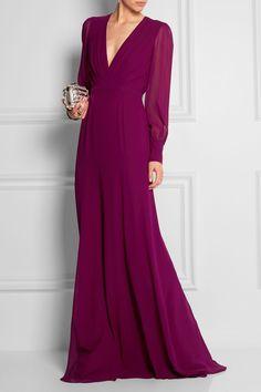 Gucci   Silk-georgette gown   NET-A-PORTER.COM