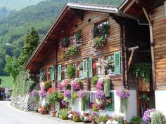 I would love to live in a little Swiss chalet with gabled windows, by a lake