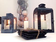 #vacchettispa #lanterne #ardesia #candle #black #oggettistica