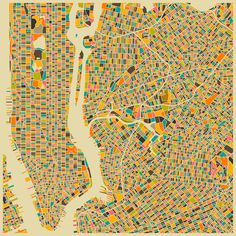 New York Map Art Print - $19