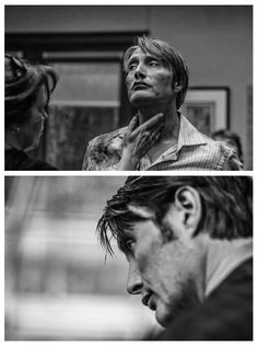 Mads Mikkelsen as Dr. Hannibal Lecter (even in a random candid photo of him getting blood smeared on his face, he still looks like a model!)