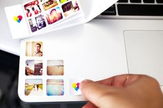 Sticker book of Instagram photos. Sealing stickers for thank you cards using photos taken at wedding? $10 for 252 stickers.