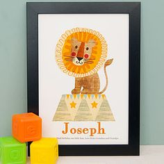 Childrens Circus Lion Illustration - children's pictures & paintings