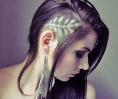 designs on shaved head feathers - Google Search