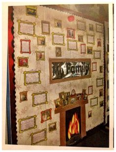 My favourite,the family wall! Complete with family photos and stories! Mrs C :)