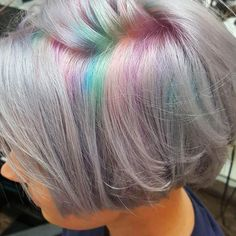 """You guys--- rainbow roots is a thing now!? 22 Likes, 3 Comments - Andrea Finley (@lullabylvr) on Instagram: """"#hairbykimnowlin #rainbowroots"""""""