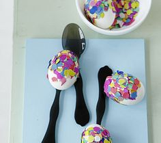 Those Easter eggs are great to make with kids.