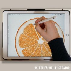Digital Watercolor Illustrations in Procreate 5 Painting Citrus Slices In this stepbystep tutorial we paint an orange slice in Procreate 5 I use some brushes from my Mast. Digital Painting Tutorials, Digital Art Tutorial, Art Tutorials, Drawing Tutorials, Digital Paintings, Graphic Design Tutorials, Illustrator Tutorials, Drawing Tips, Web Design