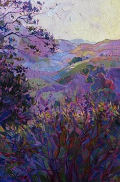 Paso Robles wine country original oil painting by Erin Hanson